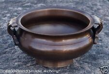 "Bronze Brass Cauldron Incense Pot 4"" Diameter - Pagan Wiccan Witchcraft"