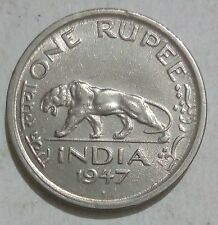 BRITISH INDIA ONE RUPEE 1947  GEORGE-VI NICKEL COIN M MINT ***XF