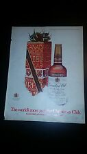 """1970 Canadian Club Whisky Vintage Magazine Ad """"The world's most popular..."""""""