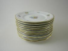 Rosenthal Chippendale 12 x pane piatto piatti 15,5 cm 2365 FIORI BORDO ORO
