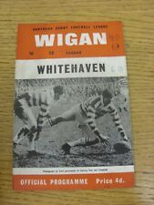 19/03/1966 Rugby League Programme: Wigan v Whitehaven [League Challenge Cup] (Cr