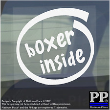 1 x Boxer Inside-Window,Car,Van,Sticker,Sign,Vehicle,Gloves,Ring,Boxing,Bags,Pad
