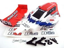 Team Associated B4.2 RTR Body and Wing, Red & White w/ Mounts; 9682 ~ B4/B4.1