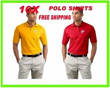 Buy 10 Polo Shirts Custom Embroidered - FREE LOGO- - Business- Sports- Golf