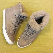 COMME DES GARCONS JUNYA WATANABE MAN KHAKI SHEEP SKIN RAW EDGE SNEAKERS XL US 11
