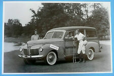 """12 By 18"""" Black & White Picture 1941 Mercury Woody Station Wagon"""