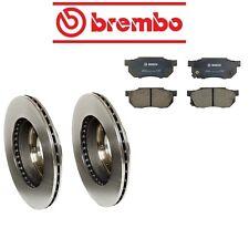 Honda Civic 84-87 1.5 Front Brake Rotors with Brake Pads Kit Brembo/Bosch
