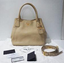 PRELOVED Prada BN2534 Vitello Daino Sacca 2 Manici Soft Calf Leather Tote Bag