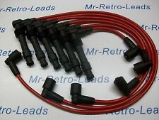 RED 8MM PERFORMANCE IGNITION LEADS TO FIT VAUXHALL OPEL OMEGA V6 PIN TYPE COIL..