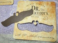 4 Dr. McGillicuddy's Liquor Coasters...includes fake mustache...Very Cool..NEW