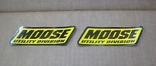 "2 MUD Moose Utility Division 5""x1.75"" sticker/decal NEW atv motocross racing"