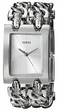 Reloj Guess Mujer Silver Plata Crystal Chain Pulsera Bracelet Woman Watch Lady