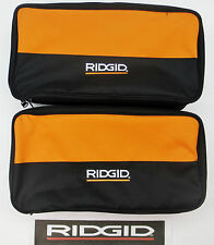 2) RIDGID TOOL BAGS (17X9X4) CARRY CASE FOR 18 V VOLT DRILL IMPACT & BATTERY
