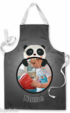 PERSONALISED PHOTO PANDA CHILDRENS APRON BAKING PAINTING WATER ARTS & CRAFTS