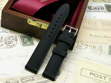 22mm Black Soft Silicon Rubber Diving Men's Watch Strap Fit All 22mm Lug
