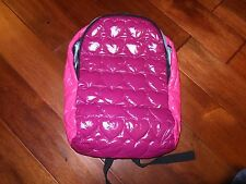 * The Company Store Kids Girls Backpack Back Pack Book Bag Pink OS Heart Quilted