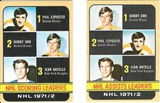 1972-73 Topps Orr Esposito #62 #63 Mint Beauty