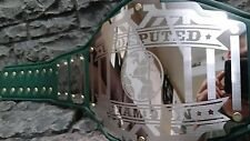 NEW Undisputed Championship Belt Legend Model Aged Emerald Green Gold Accents