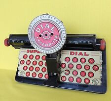 1930's Vintage Junior Dial Typewriter Marx Toys Old Tin Litho Toy-Works!