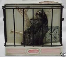 Shafford Original Ceramic Bank Bear in Zoo Cage Children's 1981 Signed Vintage