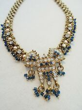 Vintage *STUNNING* Pendant Necklace Glass Rhinestone Ornate Faux Pearls REVIVAL!