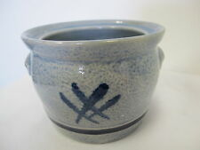 WESTERWALDER FEINSTEINZEUG GERMAN POTTERY BLUE CROCK SUGAR BOWL NO LID