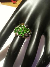 VERDE NATURALE AAA 3.35 DIOPSIDE Argento Sterling Anello Dimensione N