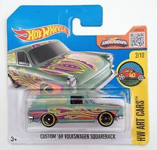 HOT Wheels Personalizzato'69 VW Squareback tipo 3 1600tl Station Wagon-Breve Carta