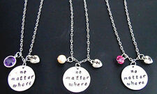 No matter where initial necklace long distance personalized 3 bff jewelry