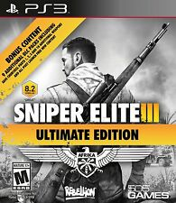 NEW Sniper Elite III 3: Ultimate Edition (Sony PlayStation 3, 2015)
