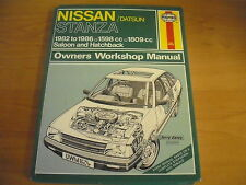 HAYNES 824 NISSAN DATSUN STANZA 1982 To 1986 OWNERS WORKSHOP MANUAL Saloon VGC