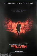 THE RAVEN ORIGINAL 2012 CINEMA 1 SHEET POSTER JOHN CUSACK EDGAR ALLAN POA