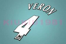Manchester United Veron #4 PREMIER LEAGUE 97-06 White Name/Number Set