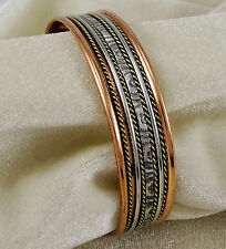Unisex Solid Copper Magentic Cuff Bracelet Arthritis Pain Relief Therapy Healing