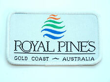 VINTAGE ROYAL PINES RESORT GOLD COAST EMBROIDERED PATCH SOUVENIR WOVEN SEW BADGE