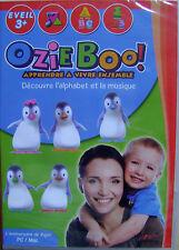 Jeux activités CD découvre l'alphabet et la musique Ozie Boo 3ans et + /E12