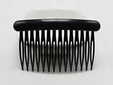 12 Black Plastic Hair Clips Side Combs Pin Barrettes 80X50mm for Ladies Craft