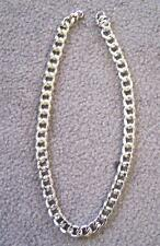 2 HEAVY SILVER MENS LINK CHAIN NECKLACES men chains necklace metal jewelry links