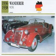 1936-1938 WANDERER W25K Sports Classic Car Photo/Info Maxi Card