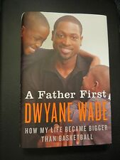 SIGNED DWAYNE WADE IN PERSON*A FATHER FIRST* Basketball 1/1 CHICAGO BULLS WOW!