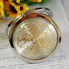 Beauty Stainless Steel Double-Sided Make-up Compact Cosmetic Mini Hand Mirror