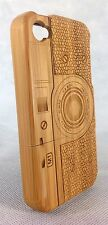 IPHONE 4/4S BAMBOO WOOD CASE ( CAMERA LASER ENGRAVING ) 100% REAL WOOD COVER