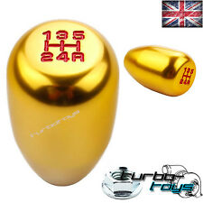 GOLD 5 SPEED BILLET ALUMINIUM GEAR KNOB Fits HONDA CIVIC INTEGRA CRX  M10x1.5