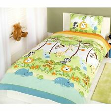 Jungle Boogie Single Duvet Cover Set (FREE P+P) Lion Elephant Safari