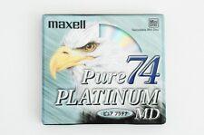 MAXELL PURE PLATINUM 74 MD MINIDISC SEALED JAPAN