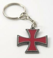 English Pewter Knights Templar Pattee Keyring 12898