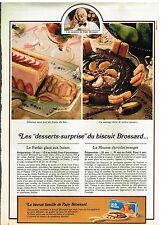 Publicité Advertising 1981 Les Biscuits Brossard