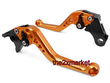 Orange CNC Short Brake Clutch Levers For Suzuki GSXR600 1997-2003 GSXR750 96-03