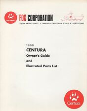 VINTAGE 1969 FOX CENTURA SNOWMOBILE OWNER & PARTS MANUAL (769)