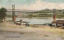 Chester Bridge East Liverpool OH Postcard